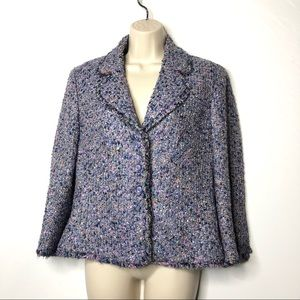 Escada blue tweed blazer 36 S (B5)